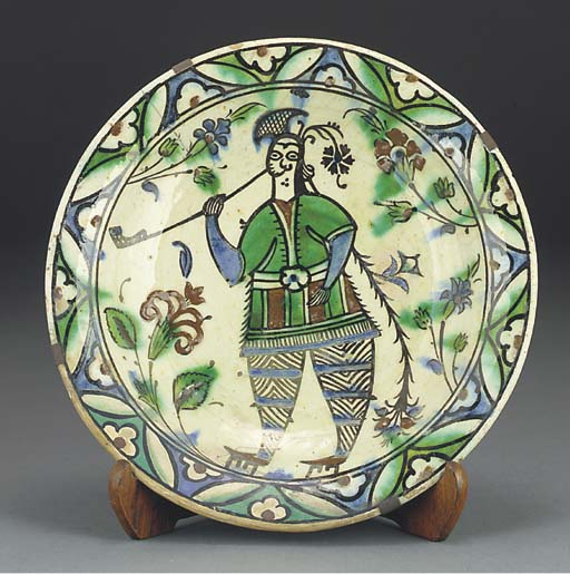 An Ottoman Iznik pottery dish,