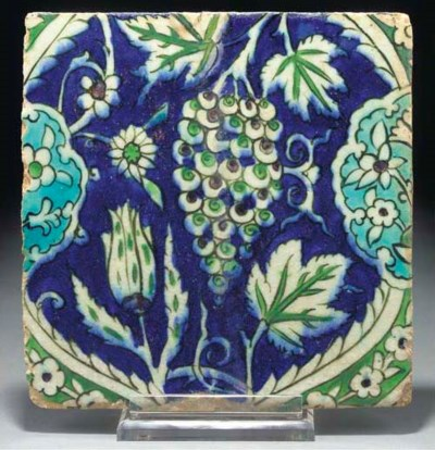 A DAMASCUS POTTERY TILE, SYRIA