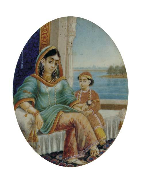 MOTHER AND CHILD, BENARES, CIR