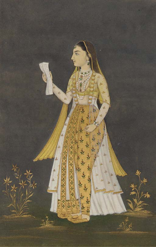PORTRAIT OF A YOUNG WOMAN HOLD