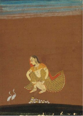 AN EROTIC PAINTING, RAJASTHAN,