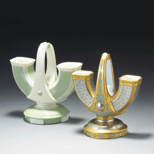 A Minton Parian Flower-holder