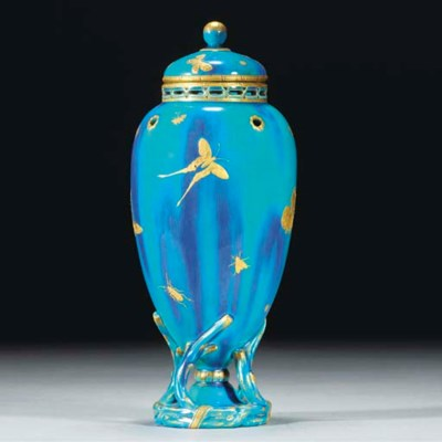 A Minton Vase and Cover