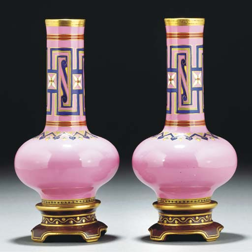 A Pair of Minton Vases