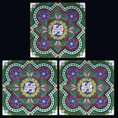 Three Sets of Minton Tiles