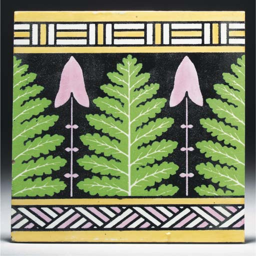 Eight Minton Hollins Tiles