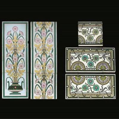 A Minton Tile Panel