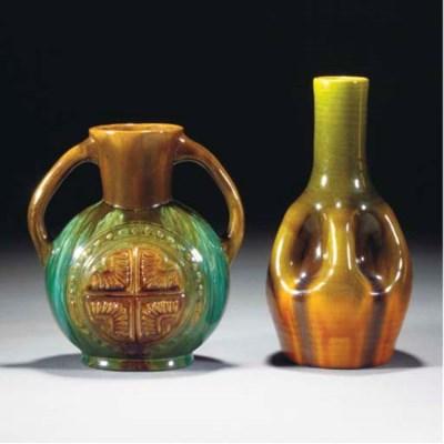 A Linthorpe Twin-handled Vase