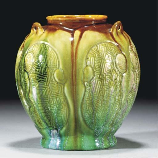 A Linthorpe Three-handled Vase