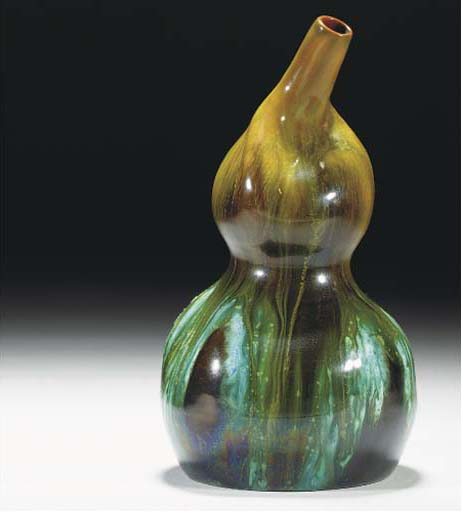 A Linthorpe Double Gourd Vase