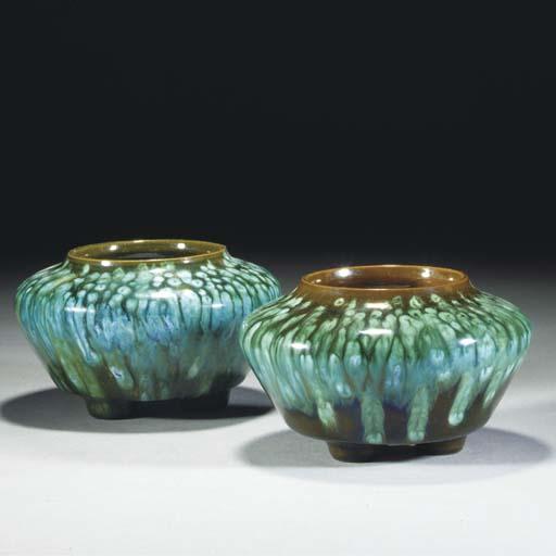 A Pair of Linthorpe Vases
