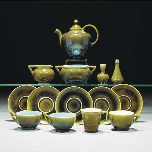 A Linthorpe Part Tea Set