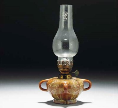A Linthorpe Oil Lamp