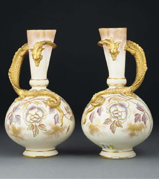 A Pair of Old Hall Jugs
