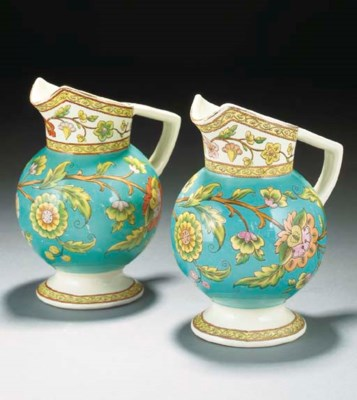 Two Old Hall Indiana Jugs