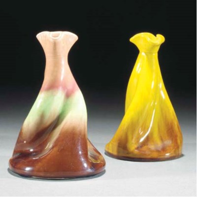 Two Ault Propellor Vases