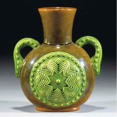 An Ault Twin-handled Vase
