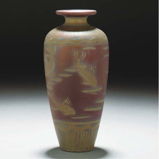 A Burmantofts Lustre Vase