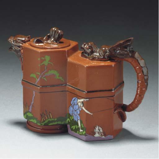 A Watcombe Earthenware Teapot