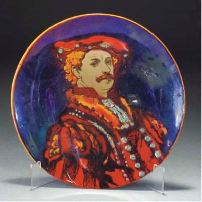 A Bernard Moore Flambe Plate