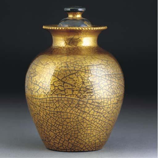 An Elton Crackle Glazed Vase a
