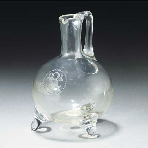 A Clear Glass Ewer