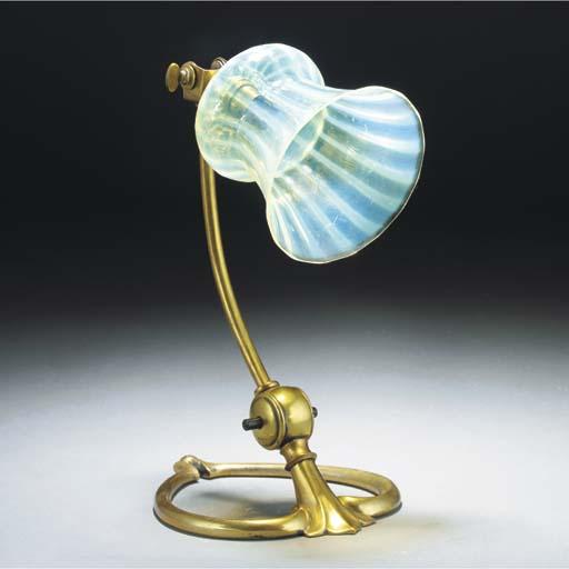 A WAS Benson Brass Lamp