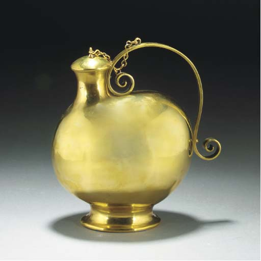 A Benham and Froud Brass Flask