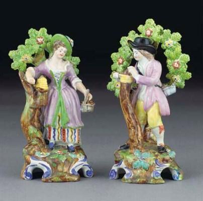 Two English pearlware figures