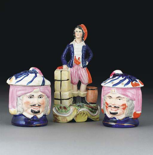Two Staffordshire-pottery toba