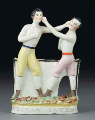 A Staffordshire pottery group