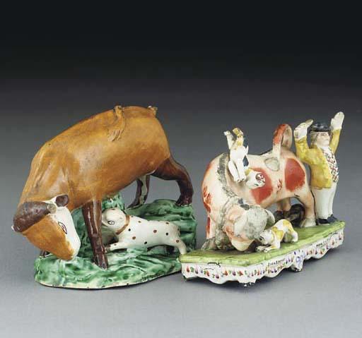A prattware bull-baiting group
