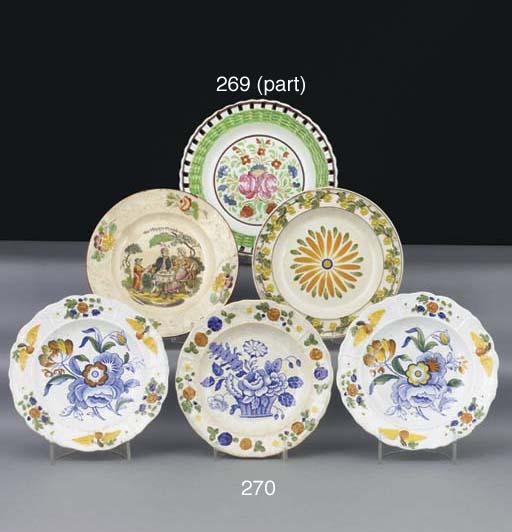 Six various pearlware nursery