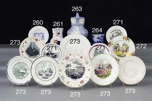 Eleven pottery nursery plates