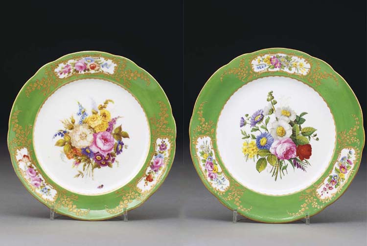 Two Nantgarw (London-decorated