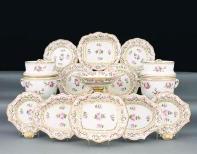 An English and French porcelai
