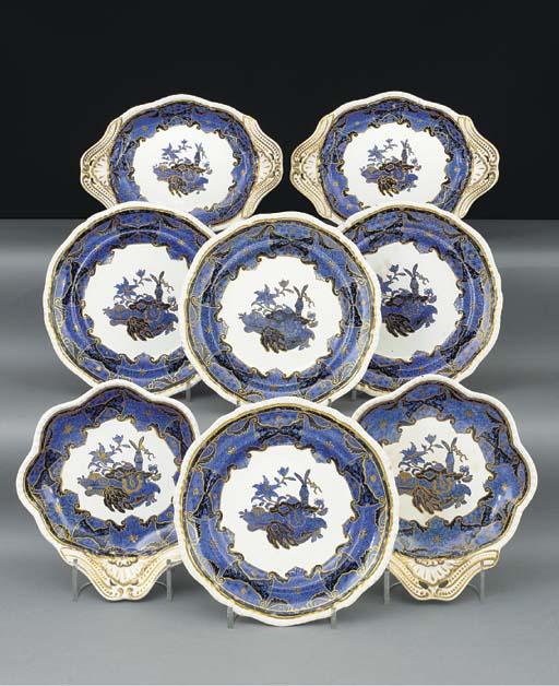 A Spode pottery part dessert-s