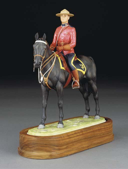 A Royal Worcester equestrian f