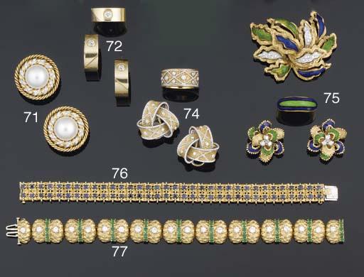 A sapphire bracelet
