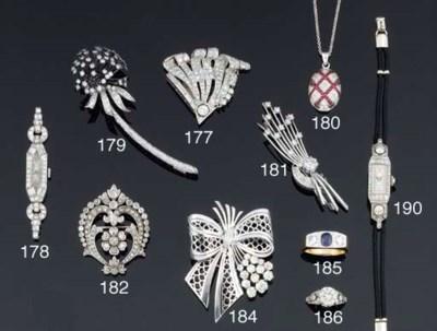 A sapphire and diamond three s
