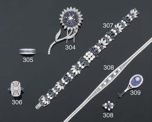 A diamond and sapphire panel r