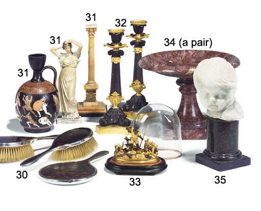 A Victorian terracotta urn