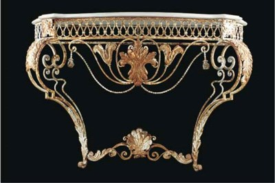 A French wrought iron console
