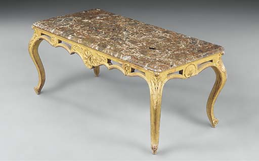 A GILTWOOD OCCASIONAL TABLE