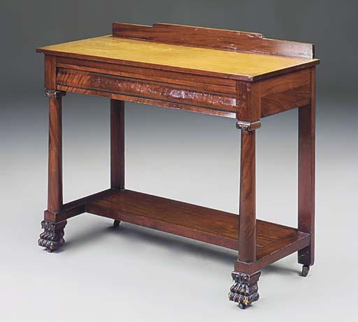 An Amercian mahogany side tabl