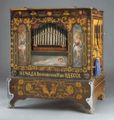 A portable street barrel organ