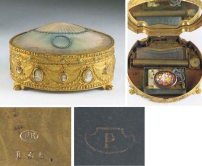 A rare musical box and singing