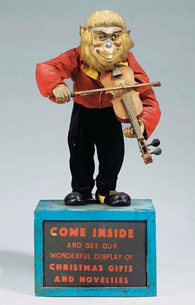 An automaton monkey violinist,