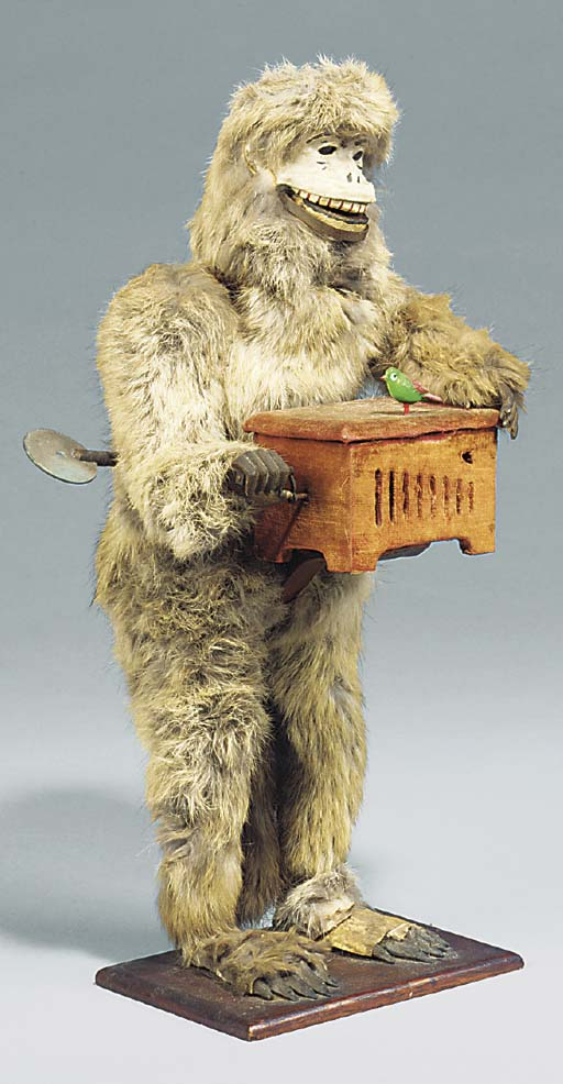 A Decamps monkey organ grinder