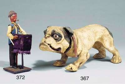 A growling bulldog,
